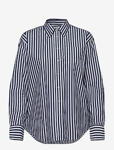 D1. CRISP COTTON RELAXED SHIRT - langærmede skjorter - persian blue