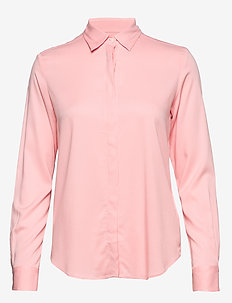 FEATHERWEIGHT TWILL BLOUSE - long sleeved blouses - preppy pink