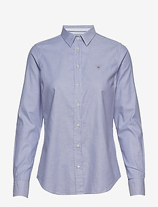 STRETCH OXFORD SOLID - long-sleeved shirts - dusty purple