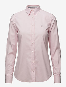 STRETCH OXFORD SOLID - langermede skjorter - light pink