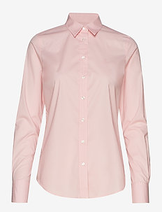 SOLID STRETCH BROADCLOTH SHIRT - PREPPY PINK