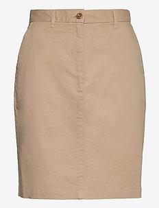 D1. CLASSIC CHINO SKIRT - midi skirts - dark khaki