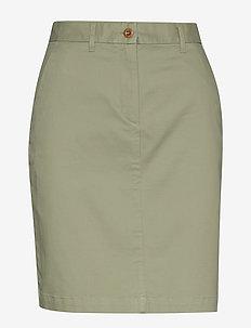 D1. CLASSIC CHINO SKIRT - midi skirts - oil green