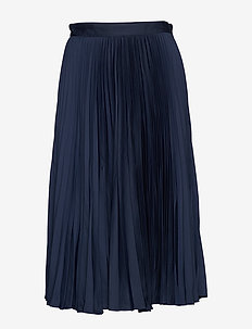 D1. PREPPY STRIPE PLEATED SKIRT - EVENING BLUE