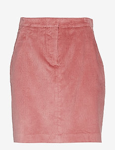 D1. WIDE WALE CORD SKIRT - SILVER PINK
