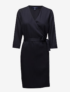 O1. DRAPY TWILL DRESS - MARINE