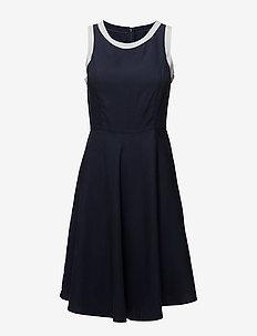 OP1. PIQUE LYOCELL DRESS - MARINE