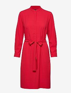 D2. UTILITY SHIRT DRESS - RED