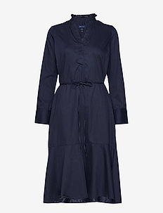 D1. TP FRILL SHIRT DRESS - EVENING BLUE