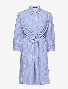 D1. TP DOBBY DRAWSTRING DRESS - skjortekjoler - pacific blue