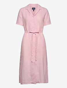 D2. LINEN CHAMBRAY SS SHIRT DRESS - skjortekjoler - summer rose