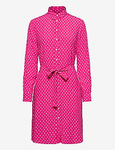 D1. DESERT JEWEL PRINT SHIRT DRESS - skjortklänningar - rich pink