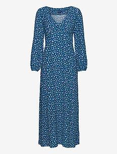 D1. DESERT ROSE VISCOSE DRESS - midi dresses - dark teal