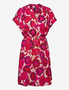 D1. FLUID DESERT ROSE DRESS - krótkie sukienki - rich pink