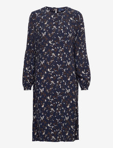 D1. ROSE BUD KNEE DRESS - sukienki na codzień - evening blue