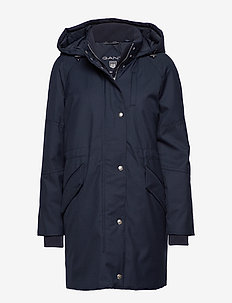 O1. TECHNICAL WOOL DOWN PARKA - parka coats - marine