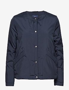 O2. COLLARLESS PADDED JACKET - doudounes - marine