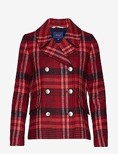 D1. CLASSIC PEACOAT - wool jackets - mahogny red