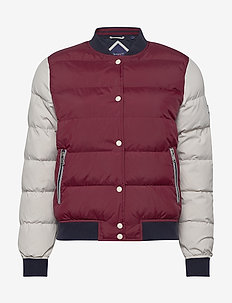 D1. PADDED GANT VARSITY JACKET - PORT RED