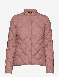 D1. LIGHT DOWN QUILTED JACKET - ASH ROSE