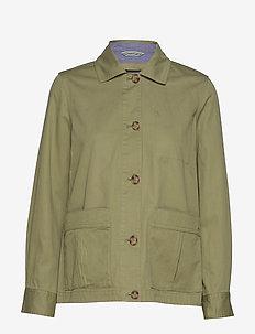 D2. SHIRT JACKET - kurtki przejściowe - oil green