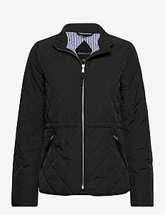 D1. QUILTED FITTED JACKET - quiltade jackor - black