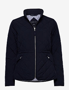 D1. QUILTED FITTED JACKET - quilted jassen - evening blue
