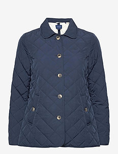D1. QUILTED MID LENGTH JACKET - quilted jackets - marine