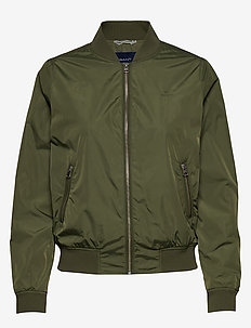 D1. AIRY NYLON BOMBER - FOUR LEAF CLOVER