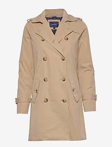 D1. TRENCH COAT - trenchcoats - dark khaki