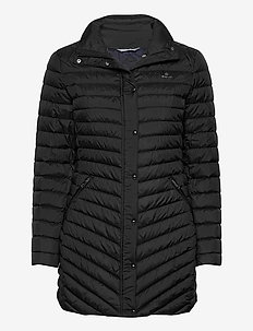 D1. LIGHT DOWN COAT - padded coats - black