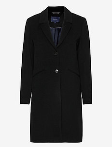 D1. CLASSIC TAILORED COAT - manteaux en laine - black