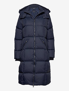 D2. CLASSIC DOWN LONG COAT - padded coats - evening blue