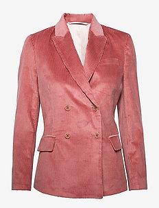 D1. WIDE WALE CORD BLAZER - casual blazere - silver pink