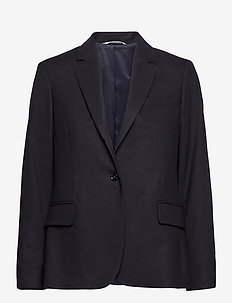 D1. FLANNEL REGULAR BLAZER - oversized blazers - evening blue