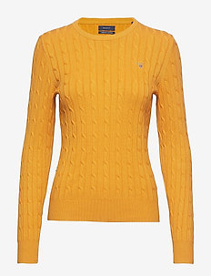 STRETCH COTTON CABLE CREW - HONEY GOLD