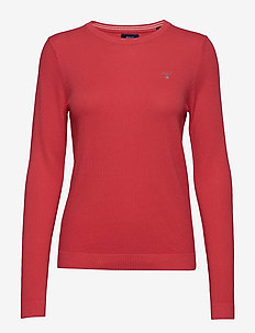 COTTON PIQUE CREW - WATERMELON RED