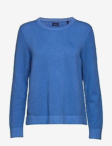 COTTON PIQUE C-NECK - sweatshirts - ocean blue melange
