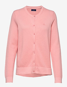 COTTON PIQUE CARDIGAN - PREPPY PINK