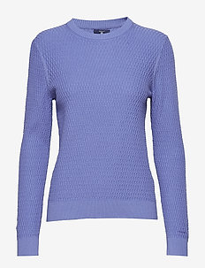 O2. TEXTURED CREW - PERIWINKLE BLUE