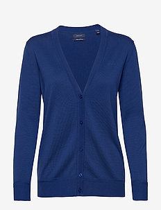 LIGHT COTTON VNECK CARDIGAN - cardigans - crisp blue