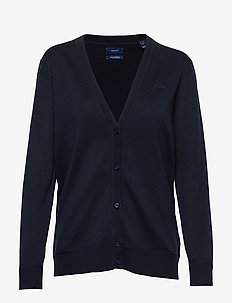 LIGHT COTTON VNECK CARDIGAN - cardigans - evening blue