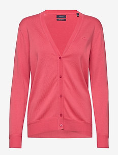 LIGHT COTTON VNECK CARDIGAN - cardigans - rapture rose