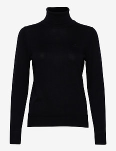 LIGHT COTTON TURTLENECK - turtlenecks - evening blue