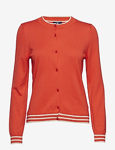 O1. AMERICAN COTTON CARDIGAN - ATOMIC ORANGE