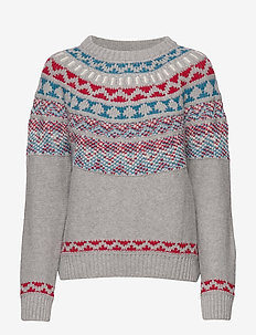 D2. WINTER FAIRISLE - GREY MELANGE