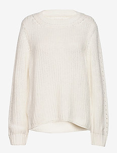 D1. RIBBED COTTON CREW - EGGSHELL