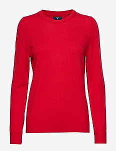 O2. WOOL CASHMERE CREW - BRIGHT RED