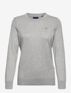 D1. COTTON CASHMERE C-NECK - truien - grey melange