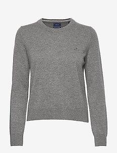 SUPERFINE LAMBSWOOL C-NECK - tröjor - dark grey melange